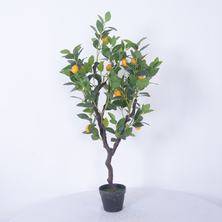 Artificial Lemon Tree Bonsai for Indoor and Home Decoration