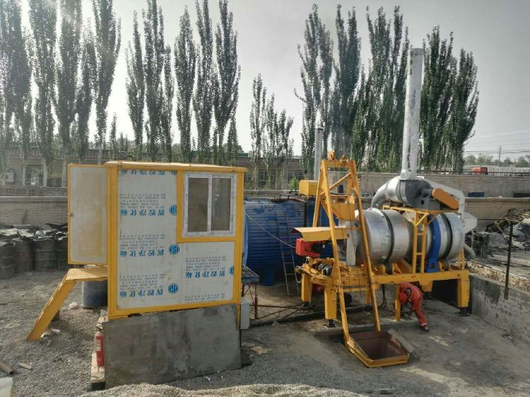 Mini Portable Asphalt Drum Mix Plant 8t/h