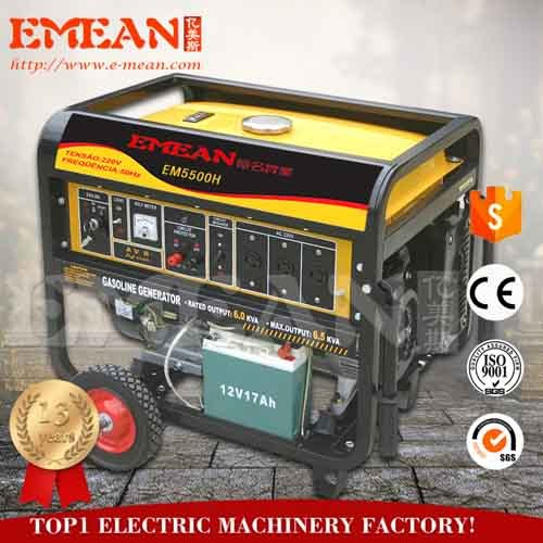 2017 hot sale 4kw portable gasoline generator set with 15HP