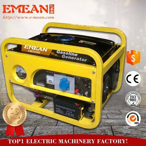 gasoline generator 2500, with 2kw output, 6.5HP engeine