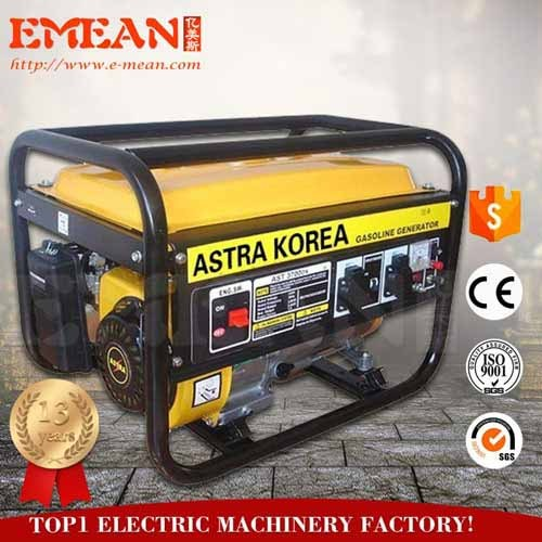 2.5kw gasoline generator astra korea with factory price