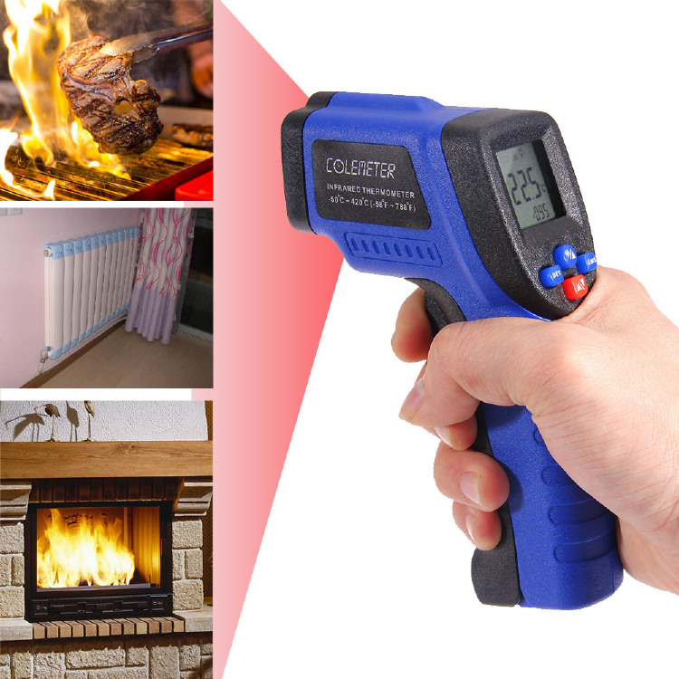 COLEMETER WT300 Digital Infrared Thermometer, -50 ℃ to 420 ℃