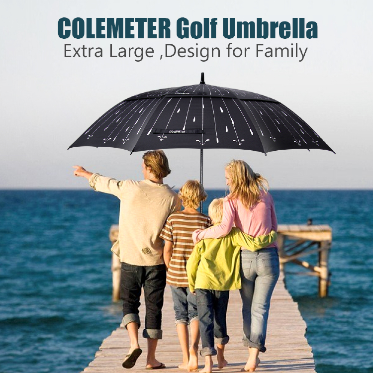 8554f8849eb0 62 inch Automatic Open Golf Umbrella - COLEMETER Oversized Double ...