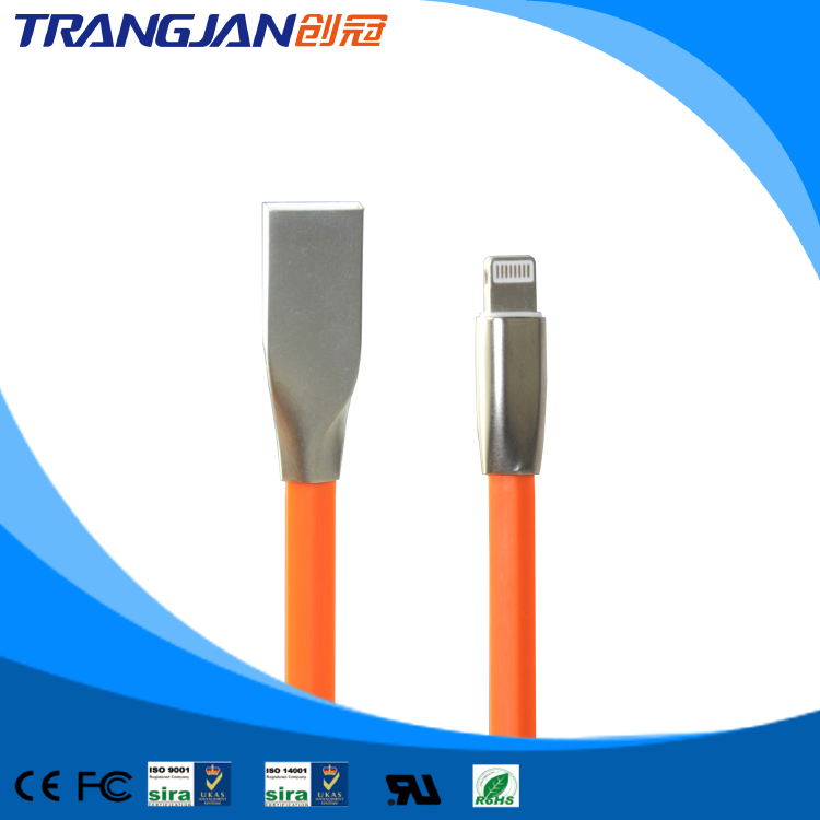 3D Titanium Alloy USB Lightning Data Cable