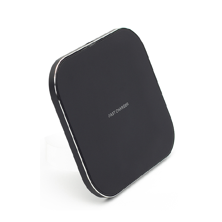 Square Aluminium Alloy Wireless Fast Charger