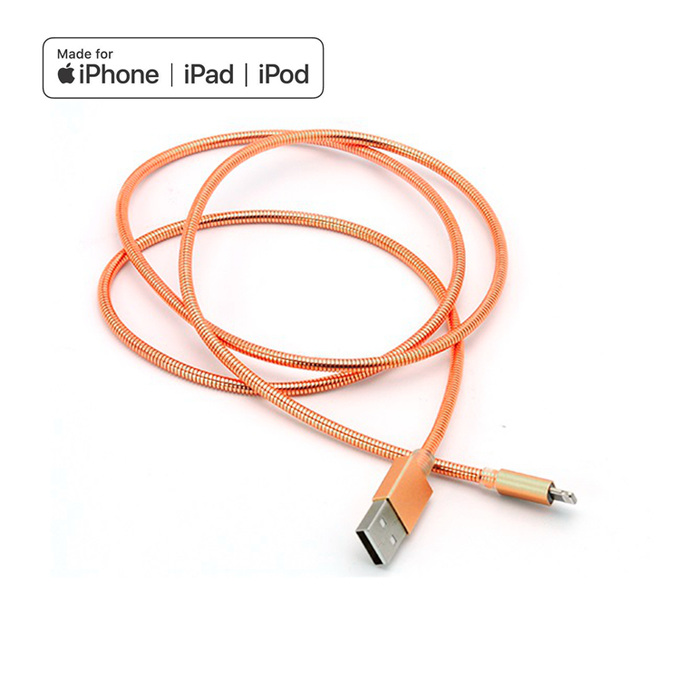 MFI Certified Lightning to USB A Cable Durable Metal spring