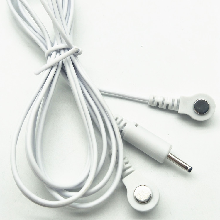 Medical magnetic Snap Tens Cable Electrode Wires for TENS Un