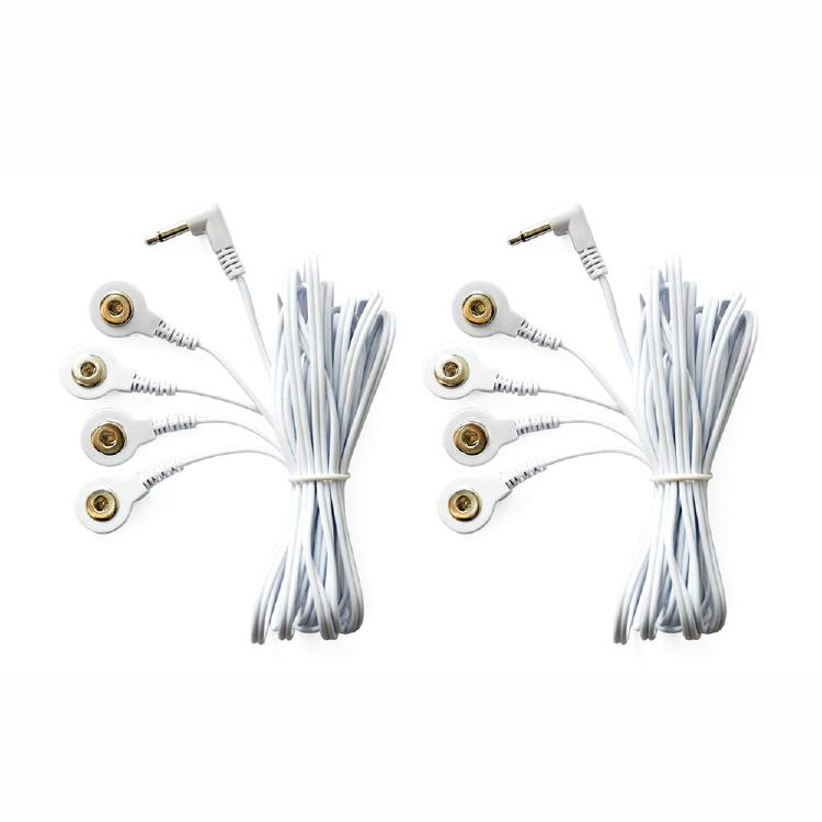Electrotherapy Tens/ems Lead Wires 4 in 1 Dc Head 3.5mm Elec