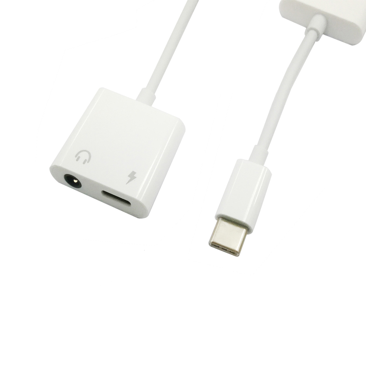 Type-C 3.5 four-pole audio cable supports charging while lis