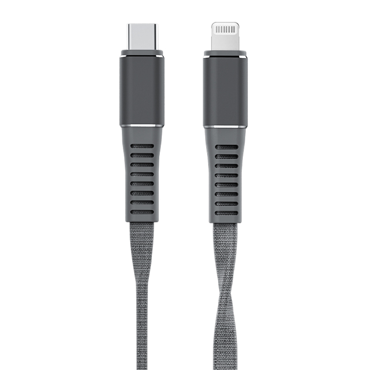 MFi Certified Cloth Woven Flat USB-C TO Lightning Cable