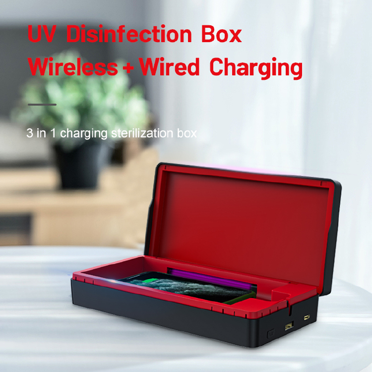 UV disinfection charging box