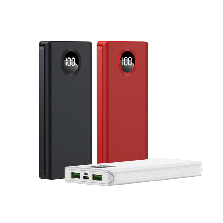F01 10000mAh Power Bank 3Port 24W Output with LED Screen 2US