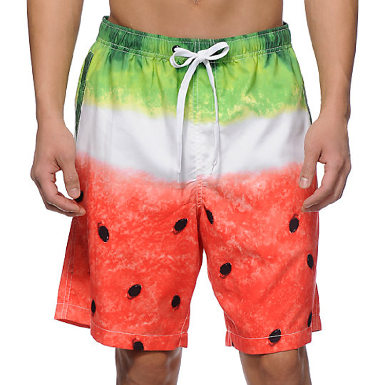water melon print summer beach wear board shorts