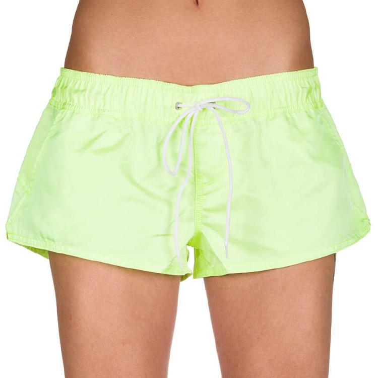 纯色颜色鲜艳的妇女板短裤游泳树干