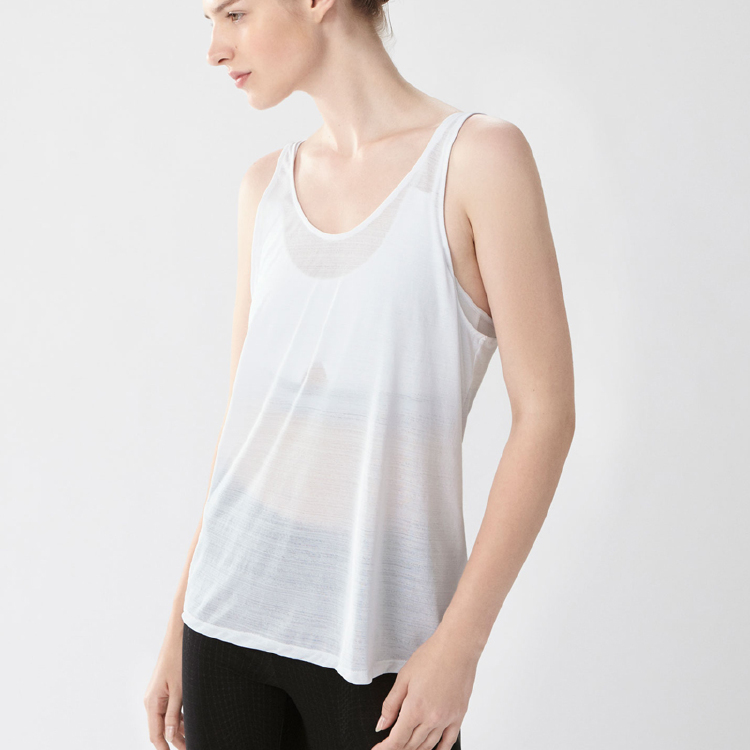 White plain wholesale girl tank tops