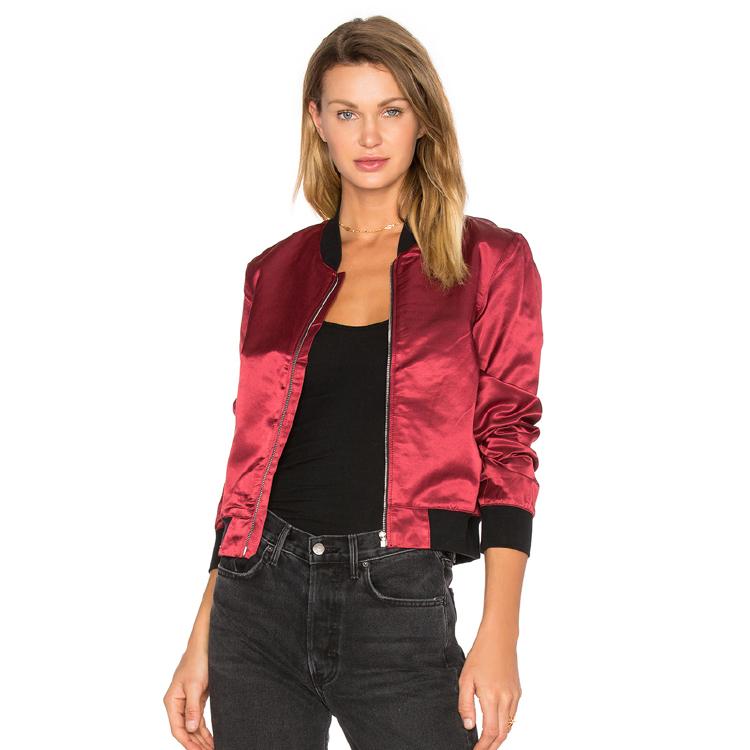 Women popular 100% polyester bomber jacket