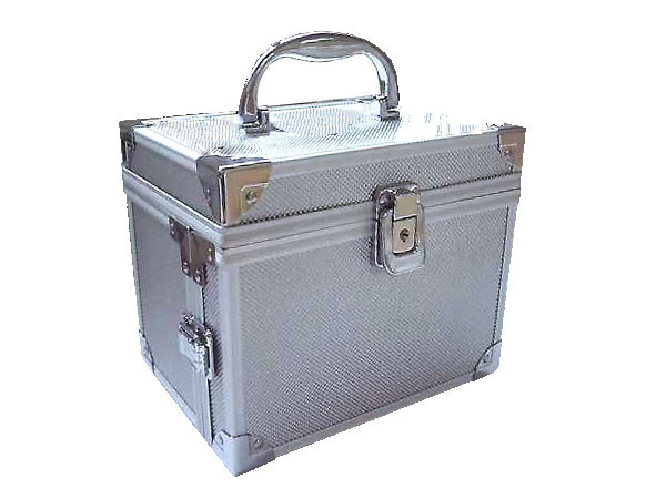 One Side Opening Make Up Carrying  Case with Two Drawers - J