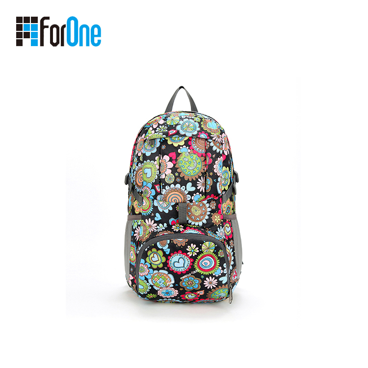 printing flowers hiking bag backpack