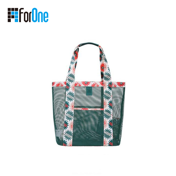 nylon mesh beach bag handbag