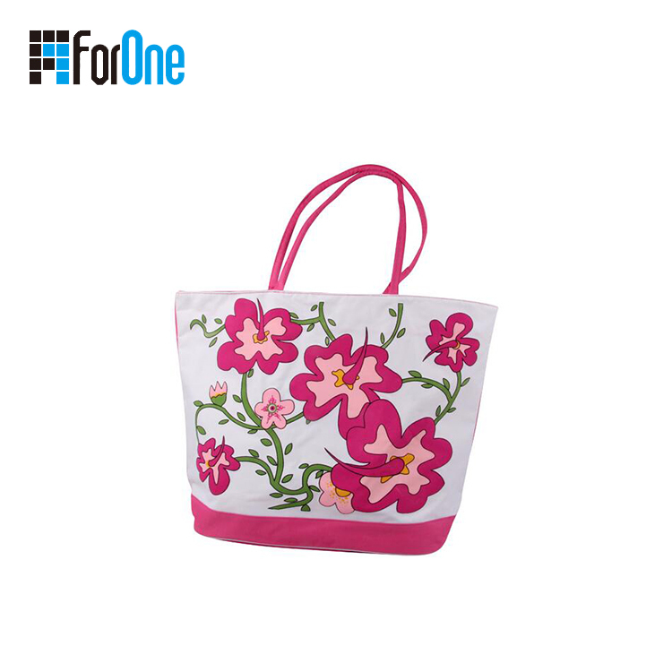 cotton beach bag with printing