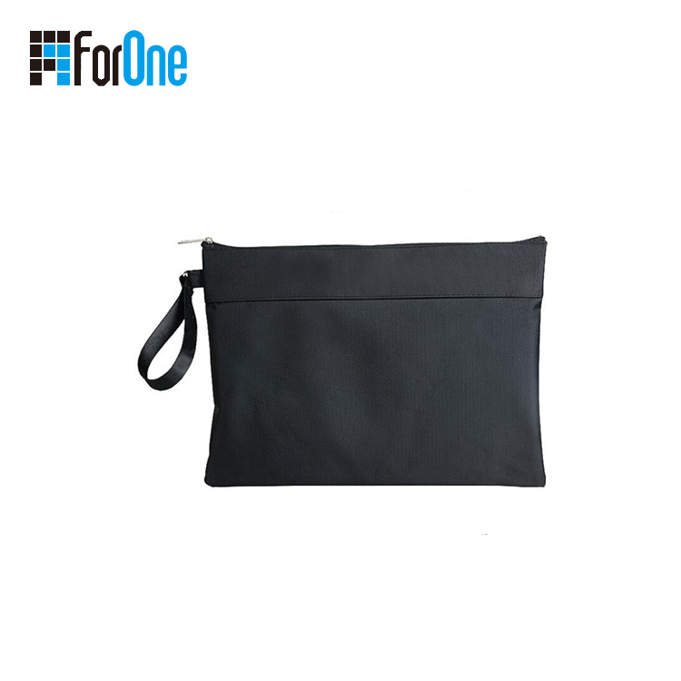 Simple Design Zipper Business Travel Document Bag a4
