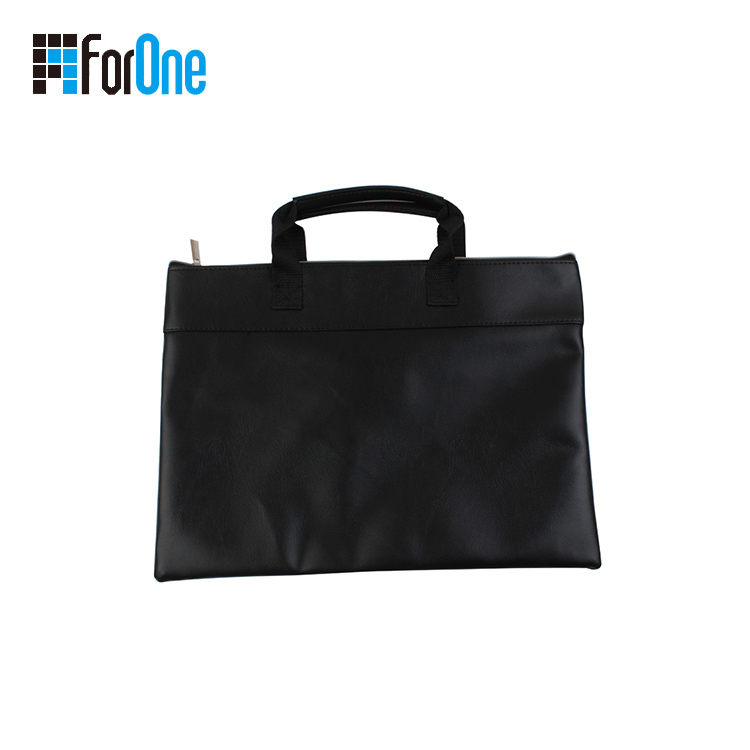 Wholesale men's office PU envelope zipper bag package