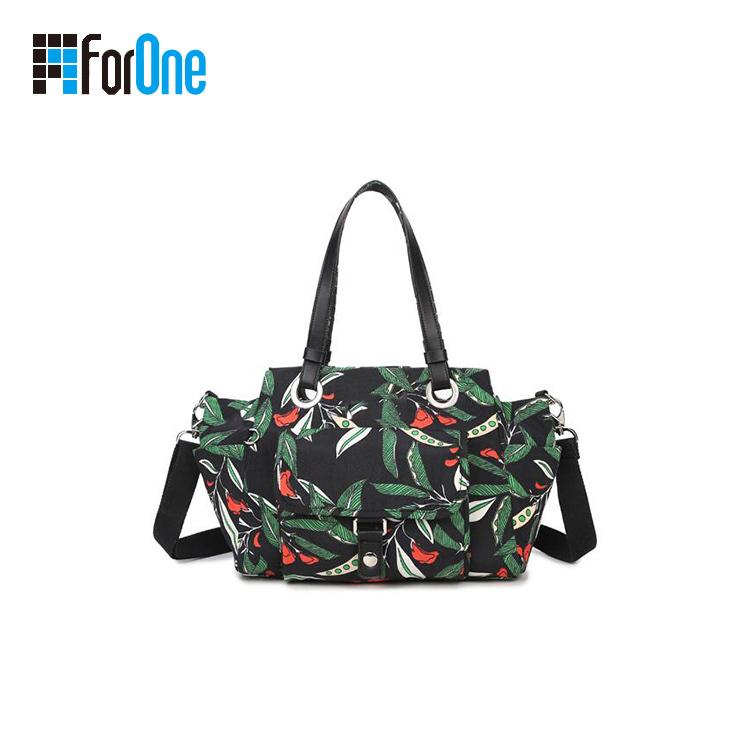 Printed Canvas Shoulder Bag Tote Bag