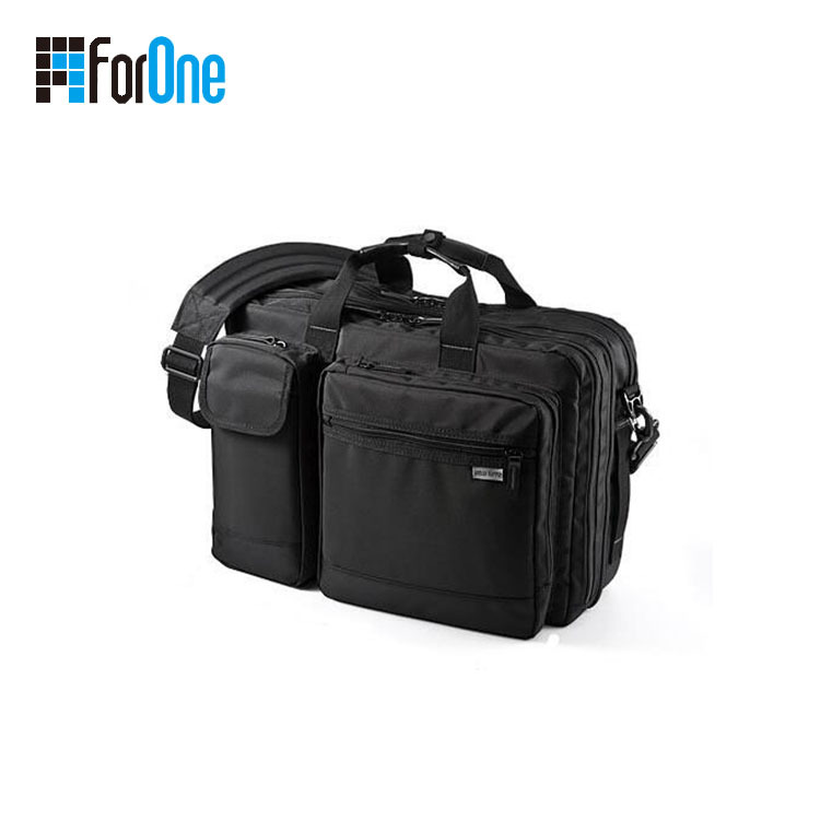 Business single shoulder multi-pocket laptop bag factory