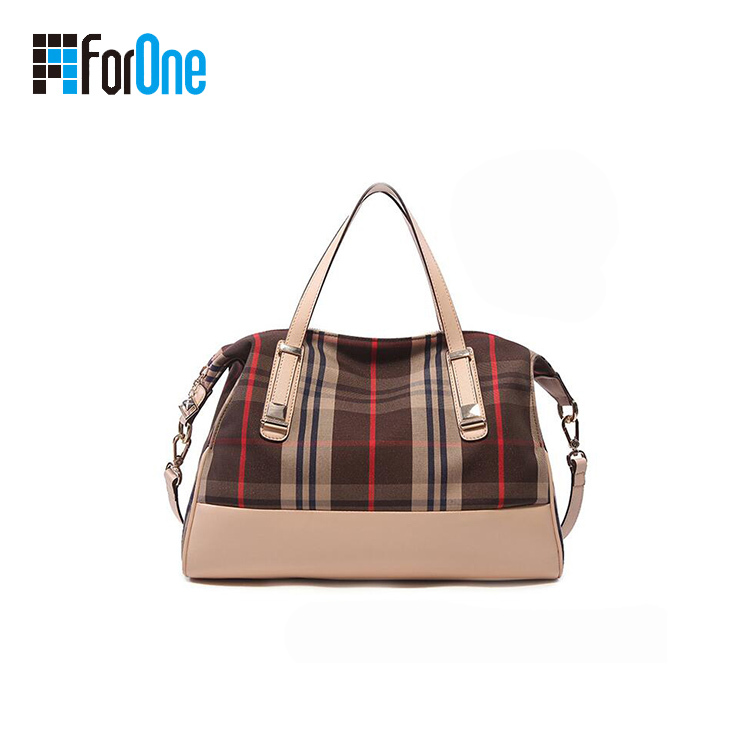 Printed Canvas Shoulder Bag Hand Bag