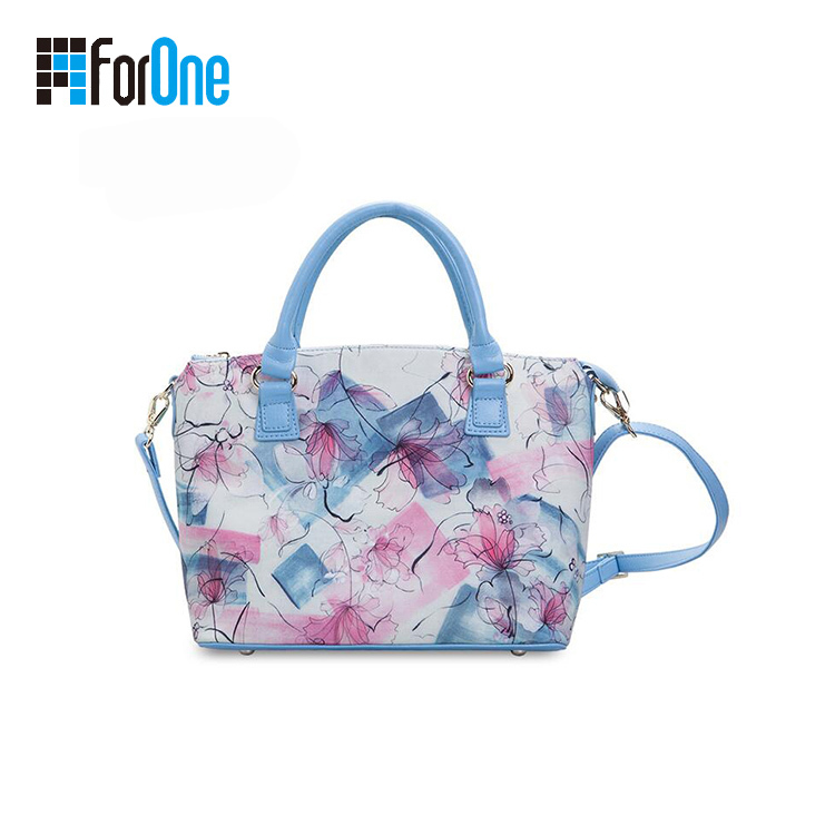 Canvas Lady Handbag Cross Body Bag with Printing