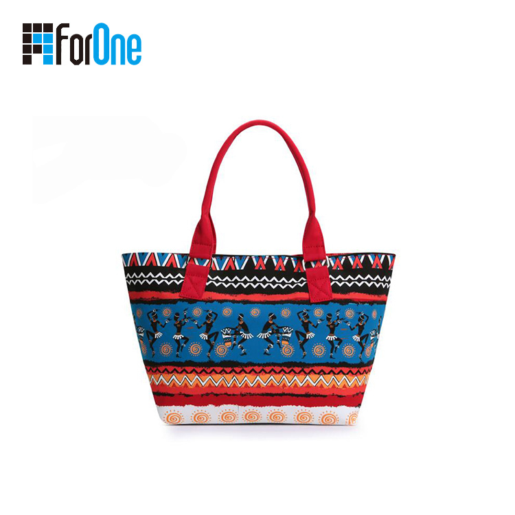 Factory Supply Boho Style Printing Canvas Tote Bag