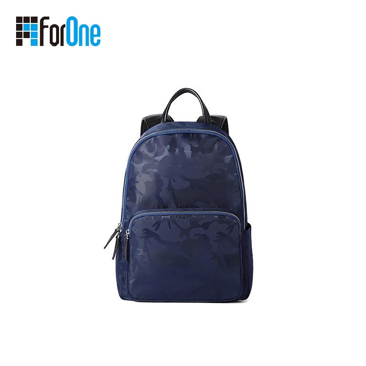Camouflage Nylon Waterproof Laptop Backpack