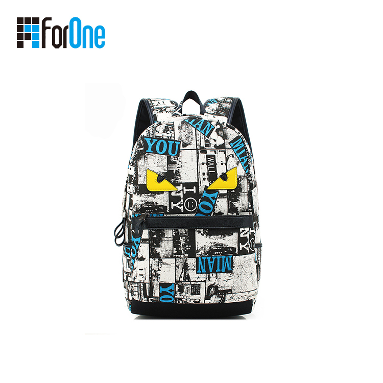 Printed Canvas School Backpacks Factory