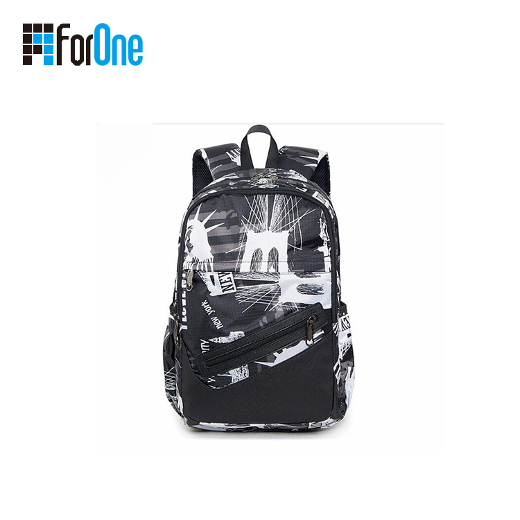 Fashion Trend Printed Factory Supply Travel Backpacks