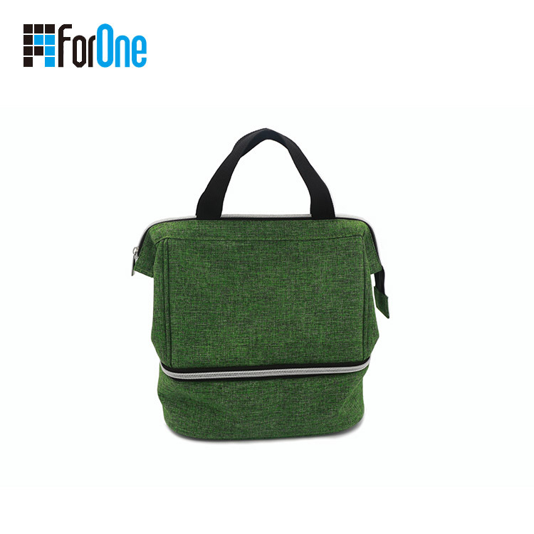China Manufacturer for Linen Lunch Bag with Metal Frame