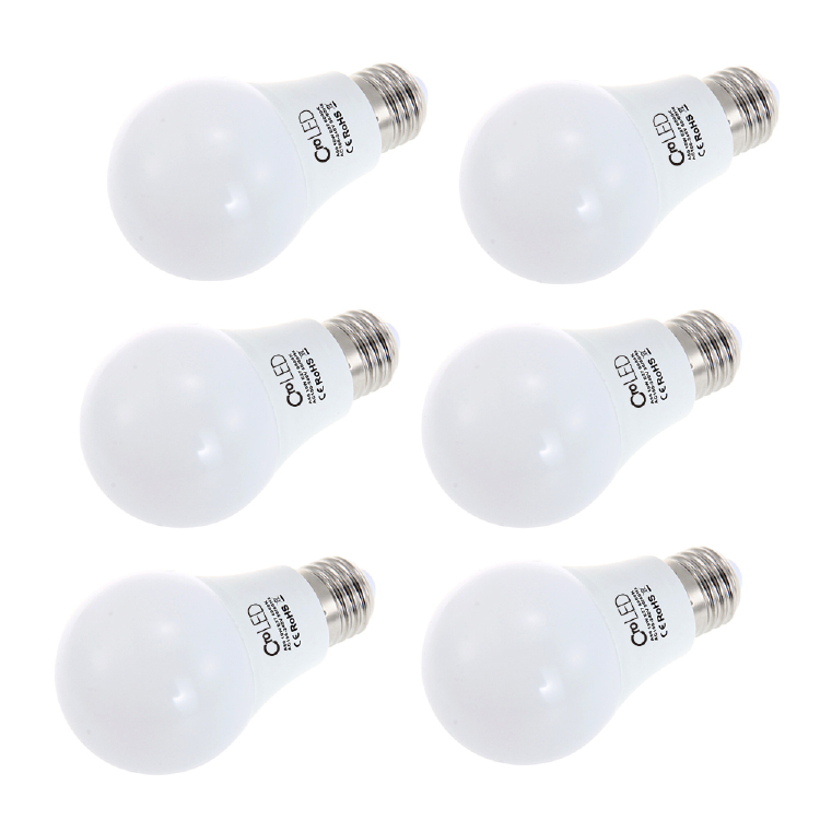 Pack of 6 E27 10W LED Bulbs  3000/ 6000K