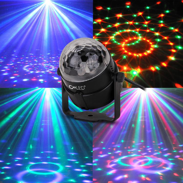 Mini Projecteur Spot Lampe Ampoule 3LED RGB RVB AC100-240V S