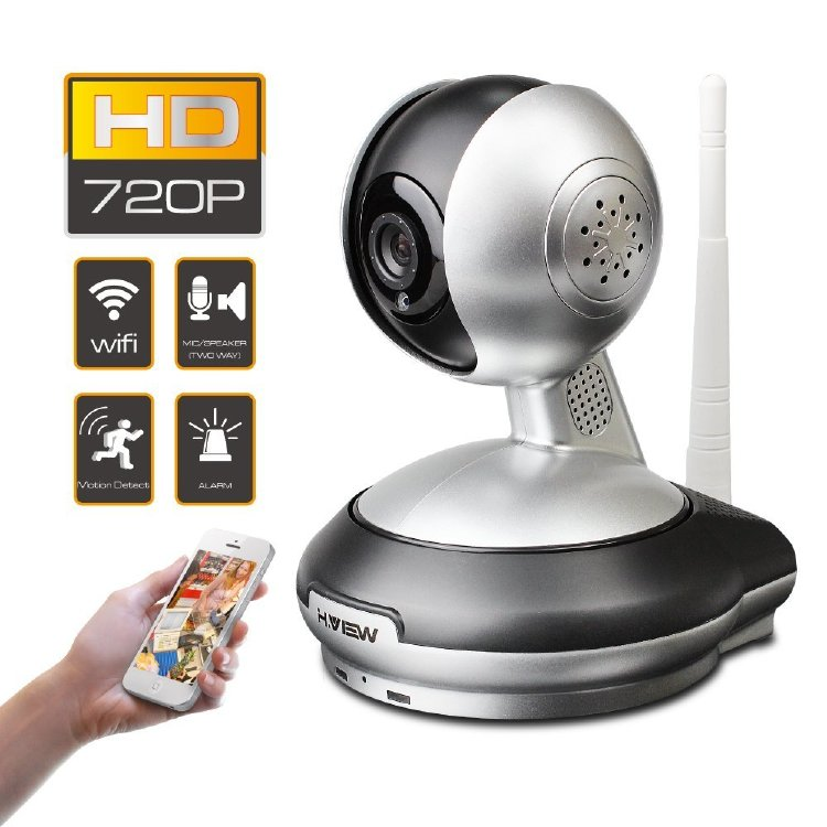 Caméra H.View Wifi 720P IP, Two Way Audio, Baby Monitor, mon