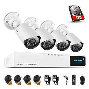 H.View 720P Security Camera System 1TB HDD, 8 Channel 720P H