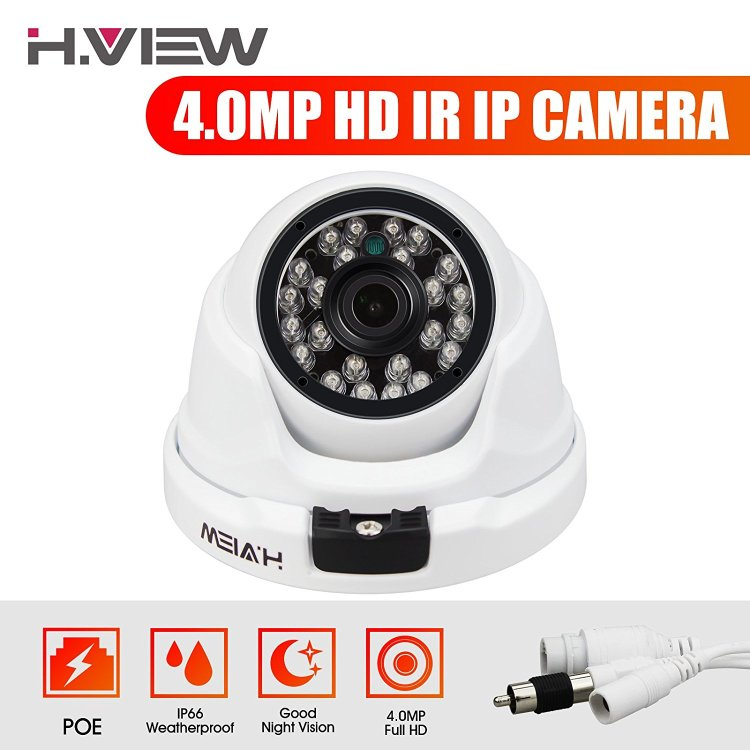 H.View IP Dome Camera,4 Mega Pixels(2560X1440) IP Security C
