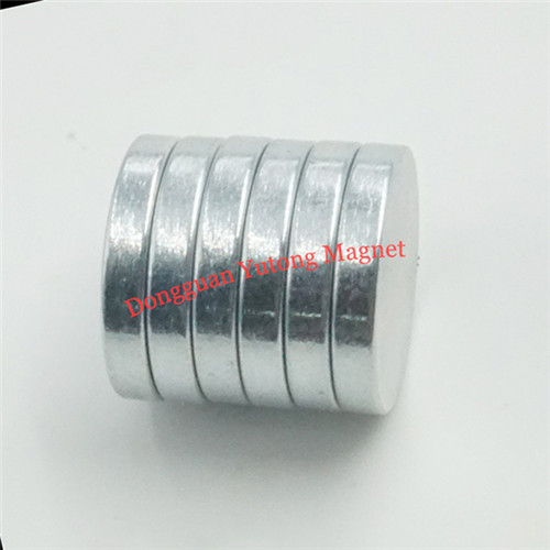 N38 Disc Shape Permanent Strong Magnets with Zinc Coating fo