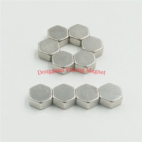Hexagon Ni-Cu-Ni Plated Powerful Magnet