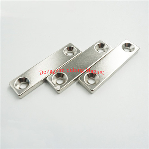 N35 Countersunk Block Nickel-Plating Magnets for Tools