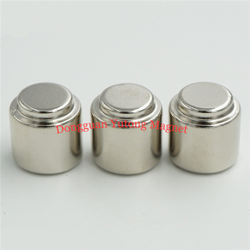 D15mm *H18 mm Round Stepped Cylinder Magnets  Packaging Magn