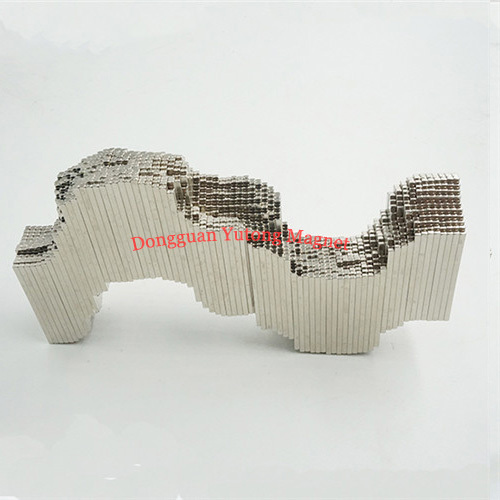 L50*W3*H3 Bar Neodymium packaging magnets Ni-Cu-Ni plated