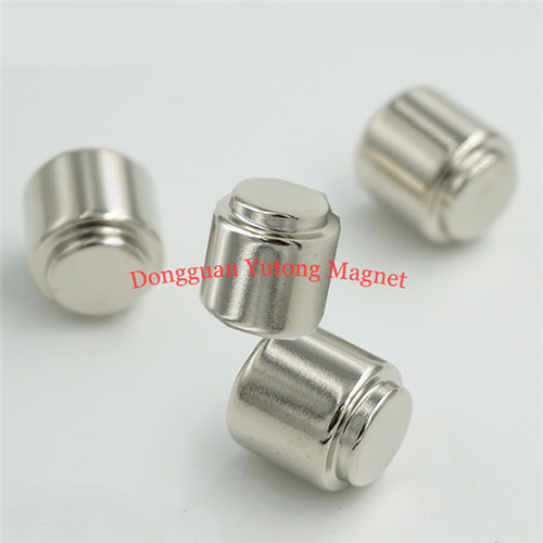 Neodymium Round Stepped Cylinder Magnets Electric Magnets