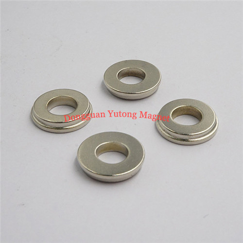 Customized special Shape Neodymium Magnets Stepped Ring Magn