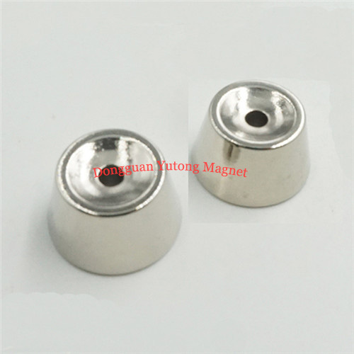 Special Cone Shape Countersunk Magnets Ni-Cu-Ni Plated