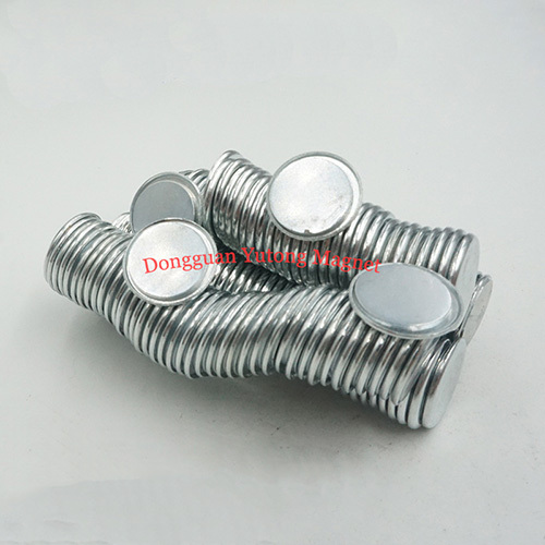 D11*T1.6 mm Neodymium single side magnets with steel cover Z