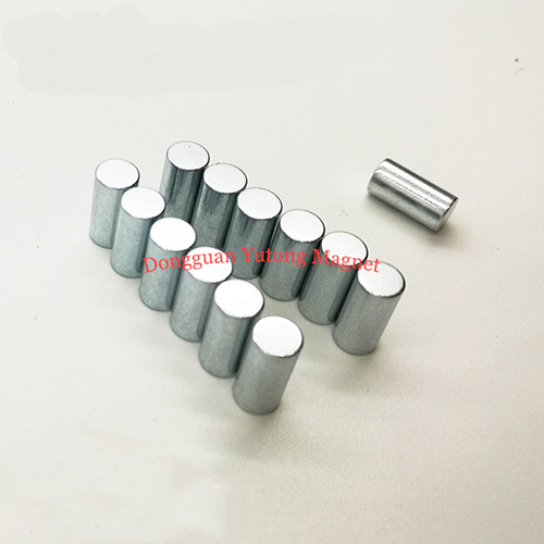 Φ8*30mm Powerful Neodymium Cylinder Magnets Zinc Plating